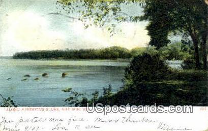 Mendota Shore - Madison, Wisconsin WI Postcard