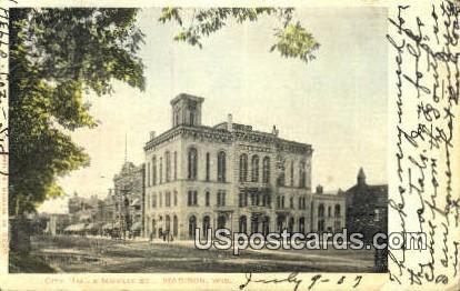 City Hall & Mifflin St - Madison, Wisconsin WI Postcard
