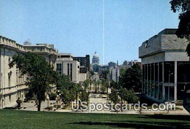 State Street, Captiol - Madison, Wisconsin WI Postcard