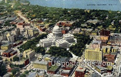 Madison, Wisconsin     ;     Madison, WI Postcard