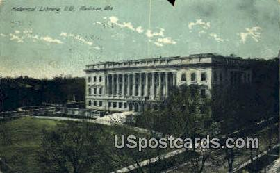 Historical Library NW - Madison, Wisconsin WI Postcard