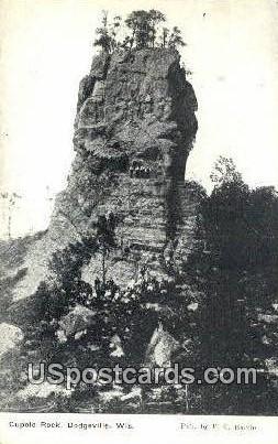 Cupolo Rock - Dodgeville, Wisconsin WI Postcard