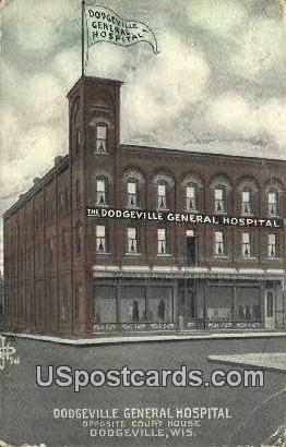 Dodgeville General Hospital - Wisconsin WI Postcard