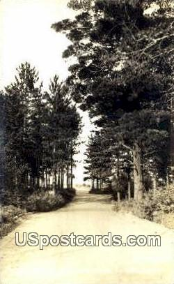 Road Scene. Real Photo - Northern Wisconsin Postcards, Wisconsin WI Postcard