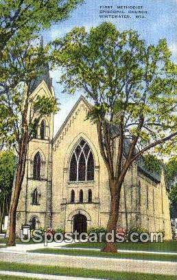 First Methodist Episcopal Church - Whitewater, Wisconsin WI Postcard