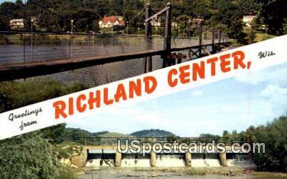Richland Center, Wisconsin     ;     Richland Center, WI Postcard