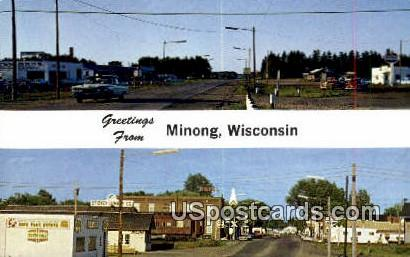 Eye of the Indian Head Country - Minong, Wisconsin WI Postcard