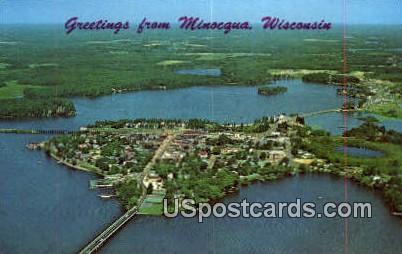 Island City - Minocqua, Wisconsin WI Postcard