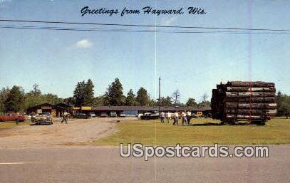 North Wisconsin Logging Camp - Hayward Postcard