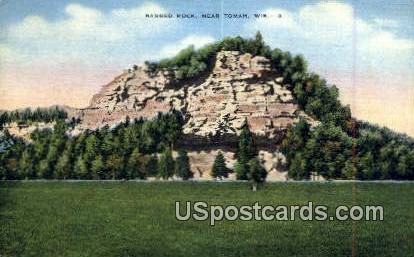 Ragged Rock - Tomah, Wisconsin WI Postcard
