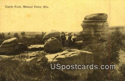 Castle Rock - Mineral Point, Wisconsin WI Postcard