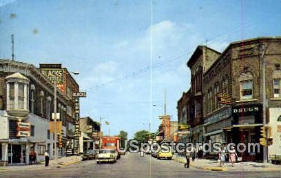 DeWitt Street, East Cook Street - Portage, Wisconsin WI Postcard