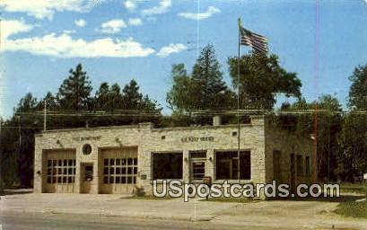 Sister Bay, Fire Depart & Post Office - Door County, Wisconsin WI Postcard