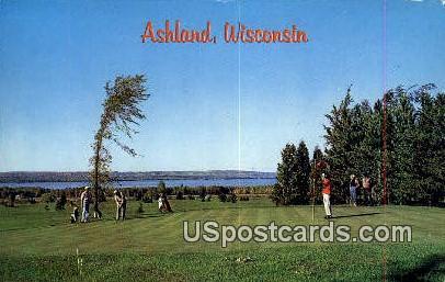 Golf Course - Ashland, Wisconsin WI Postcard