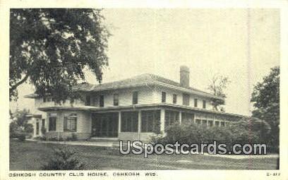 Oshkosh Country Club House - Wisconsin WI Postcard