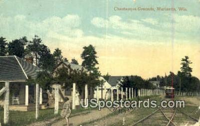 Chautauqua Grounds - Marinette, Wisconsin WI Postcard