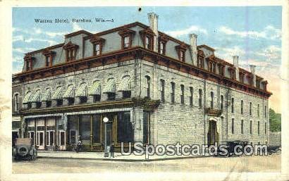 Warren Hotel - Baraboo, Wisconsin WI Postcard