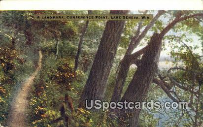 Conference Point - Lake Geneva, Wisconsin WI Postcard