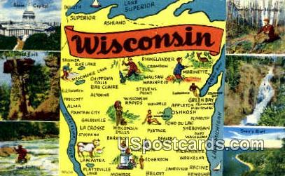 State Capitol - Greetings from, Wisconsin WI Postcard