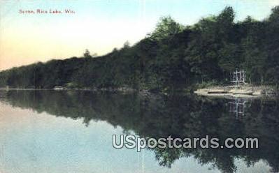 Rice Lake, WI     ;     Rice Lake, Wisconsin Postcard