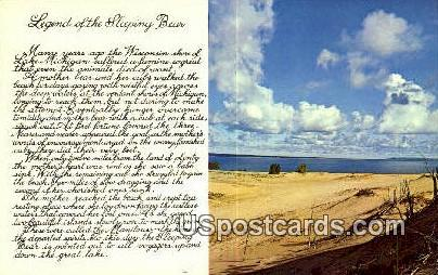 Sleeping Bear - Manitou Islands, Wisconsin WI Postcard