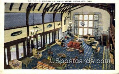 Old English Lounge, Nippersink Lodge - Genoa City, Wisconsin WI Postcard