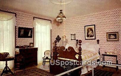 Master Bedroom, Octagon House - Watertown, Wisconsin WI Postcard