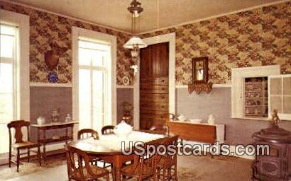 Dining Room, Octagon House - Watertown, Wisconsin WI Postcard