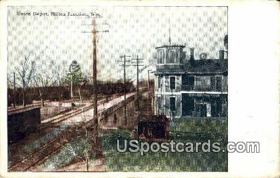 Union Depot - Milton Junction, Wisconsin WI Postcard