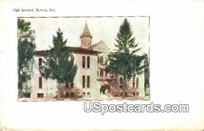 High School, Milton - Wisconsin WI Postcard