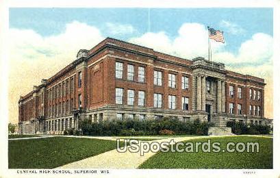 Central High School - Superior, Wisconsin WI Postcard