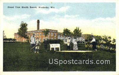 Grand View Health Resort - Waukesha, Wisconsin WI Postcard