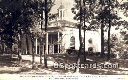 Nicols Memorial Chapel - Williams Bay, Wisconsin WI Postcard