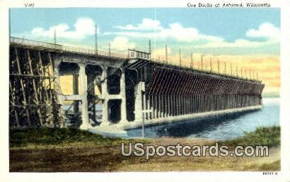 Ore Docks - Ashland, Wisconsin WI Postcard