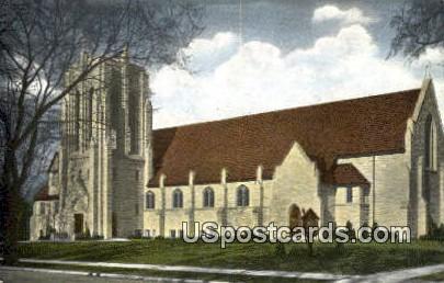 First Evangelical United Brethren Church - Racine, Wisconsin WI Postcard