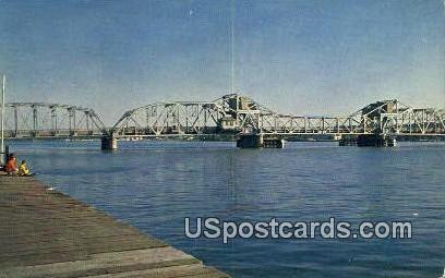 Bridge Crossing Channel, Sturgeon Bay - Door County, Wisconsin WI Postcard