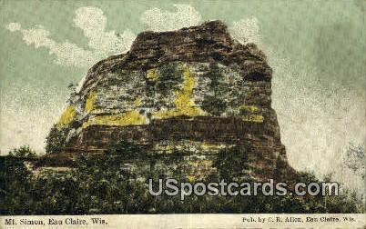 Mt Simon - Eau Claire, Wisconsin WI Postcard