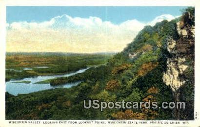 Wisconsin Valley, Wisconsin State Park - Prairie Du Chien Postcard