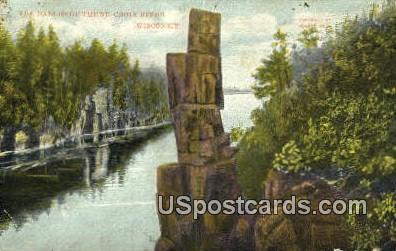 Dalles - St. Croix River, Wisconsin WI Postcard
