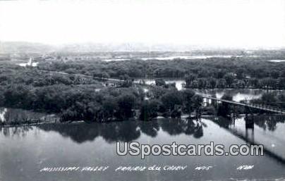 Mississippi Valley - Prairie Du Chien, Wisconsin WI Postcard