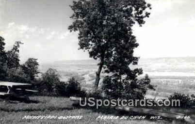 Mississippi Bottoms - Prairie Du Chien, Wisconsin WI Postcard