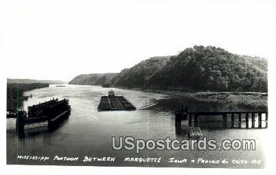 Mississippi Pontoon - Prairie Du Chien, Wisconsin WI Postcard