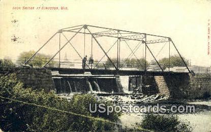 Iron Bridge - Kingston, Wisconsin WI Postcard
