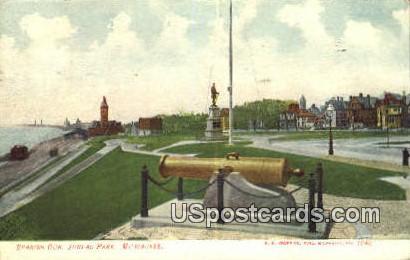 Spanish Gun, Juneau Park - MIlwaukee, Wisconsin WI Postcard