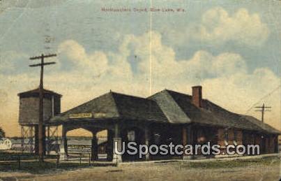 Nrothwestern Depot - Rice Lake, Wisconsin WI Postcard