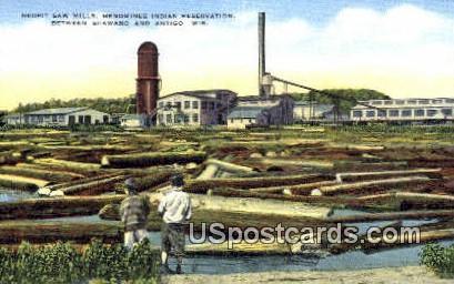 Neopit Saw Mills - Antigo, Wisconsin WI Postcard