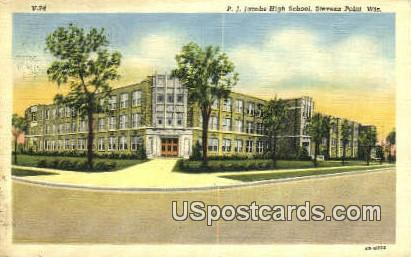 PJ Jacobs High School - Stevens Point, Wisconsin WI Postcard