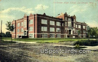 La Crosse High School - Wisconsin WI Postcard