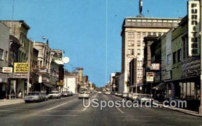 Eighth Street - Downtown Sheboygan, Wisconsin WI Postcard