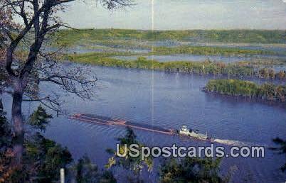 Mississippi Tow Boat - Prairie Du Chien, Wisconsin WI Postcard